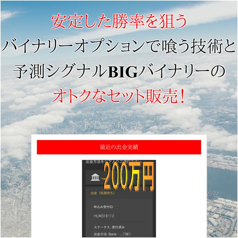 戸村大輝のバイナリーオプション攻略セット「バイナリーオプションで喰う技術+BIGバイナリー」